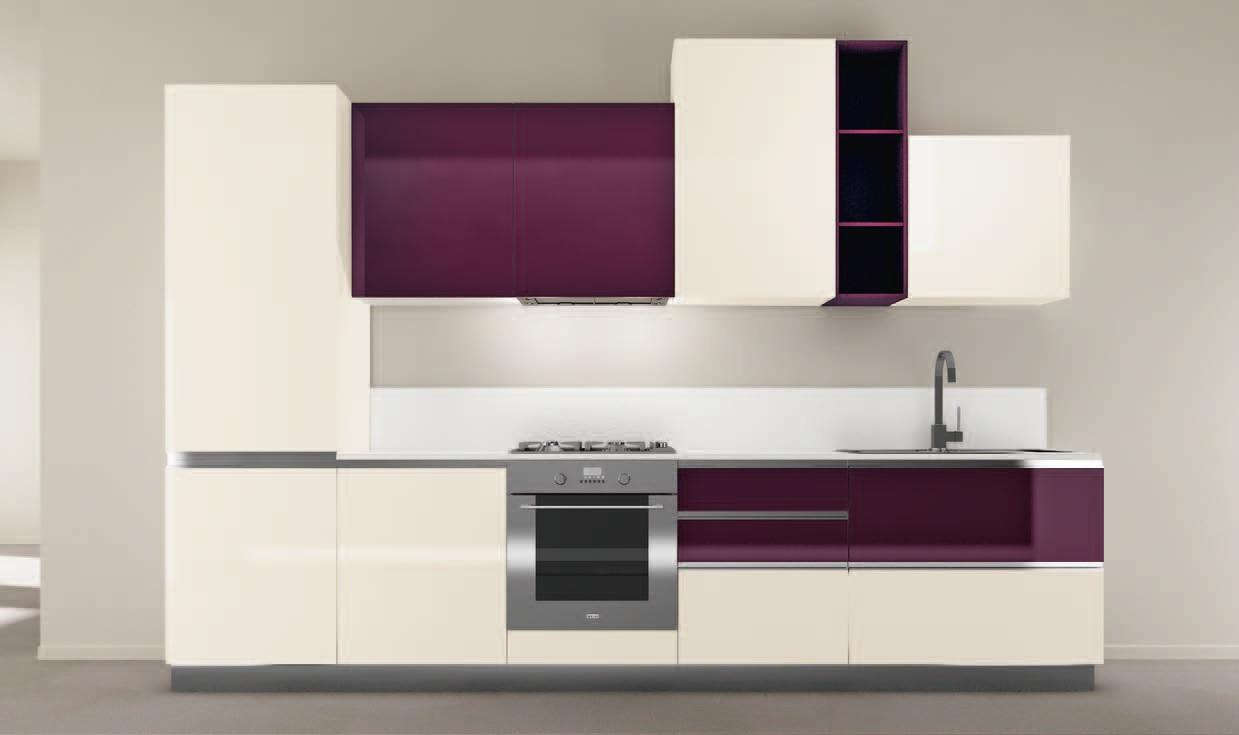 Una tavolozza di colori per le cucine contemporanee - Cucina color melanzana ...