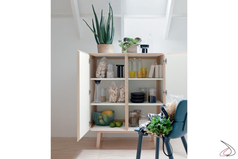 Design high sideboard for living room with internal shelves
