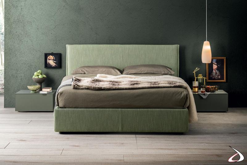 Camera da letto con comodini a 1 cassetto con maniglia