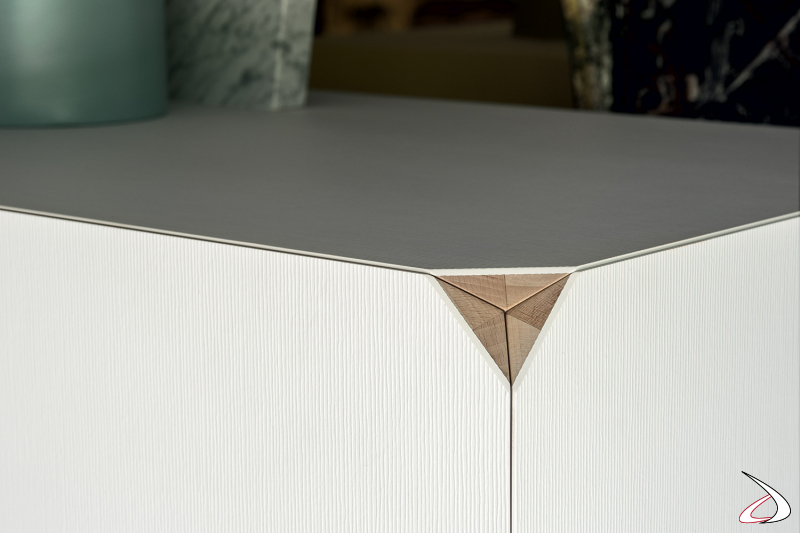 Design living room sideboard without corners