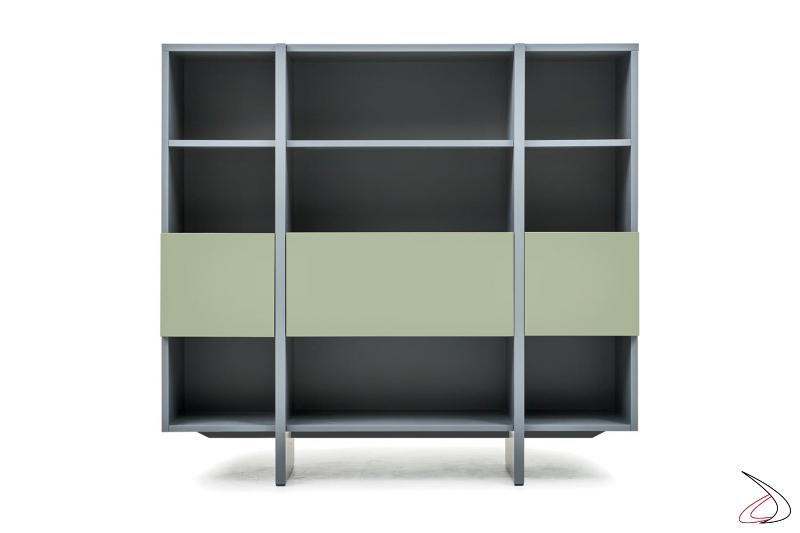 Libreria modulare moderna da salotto con ante