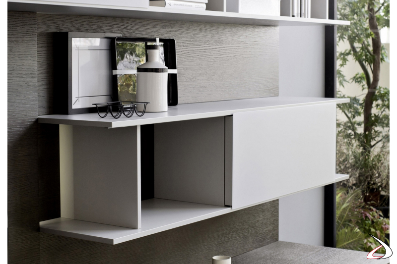 Element for the living room with sliding door