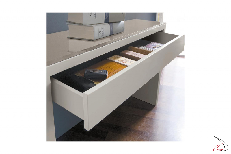 Consolle moderna da ingresso con cassetto svuota tasche