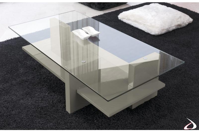 Tavolino soggiorno con struttura in legno
