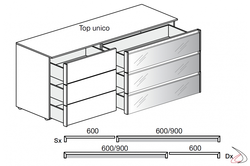 Chest of drawers details