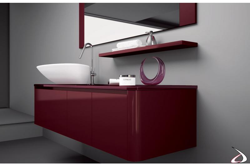 Base con cassetti con lavabo soprapiano