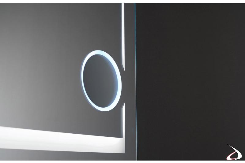 Specchio ingranditore retroilluminato con luce fredda 6000K