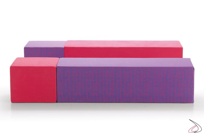 Divanetti lineari e colorati semplici, ma comodi e moderni modello Formentera