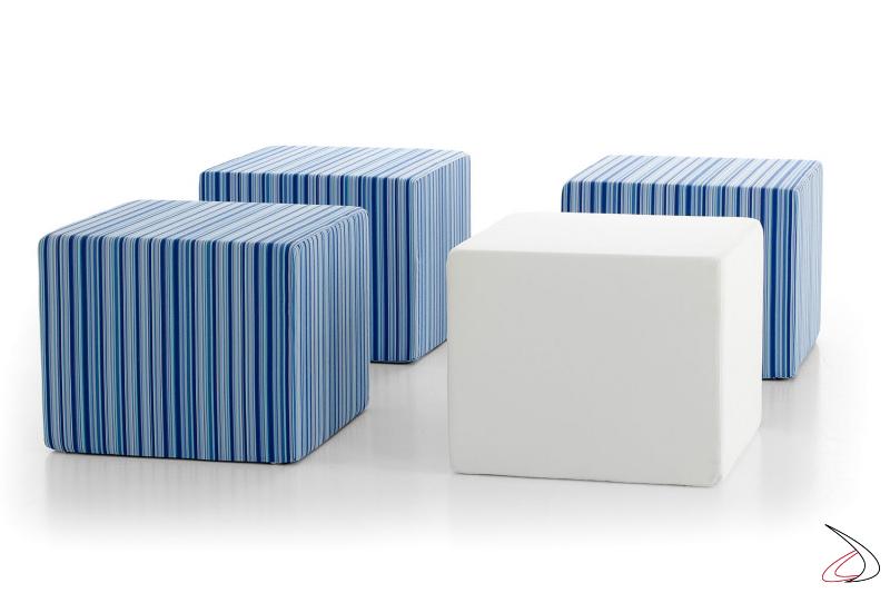 Serie di pouf da bordo piscina o da esterno modello Formentera