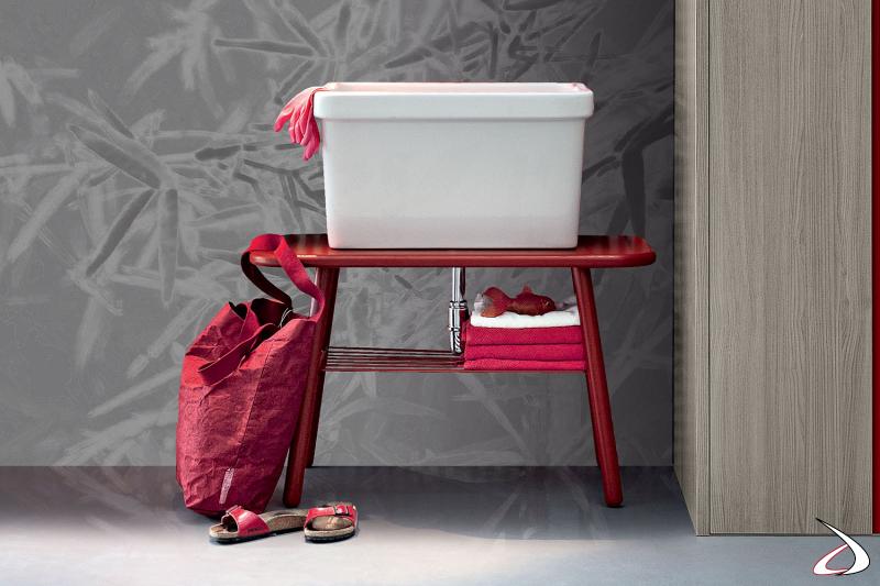 Lavatoio per lavanderia con vasca grande in ceramica