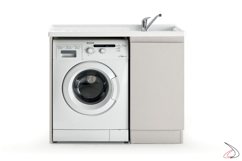 Lavatoio da lavanderia con porta lavatrice e vasca in metacrilato