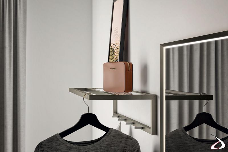 Mobile ingresso con mensola appendiabiti di design