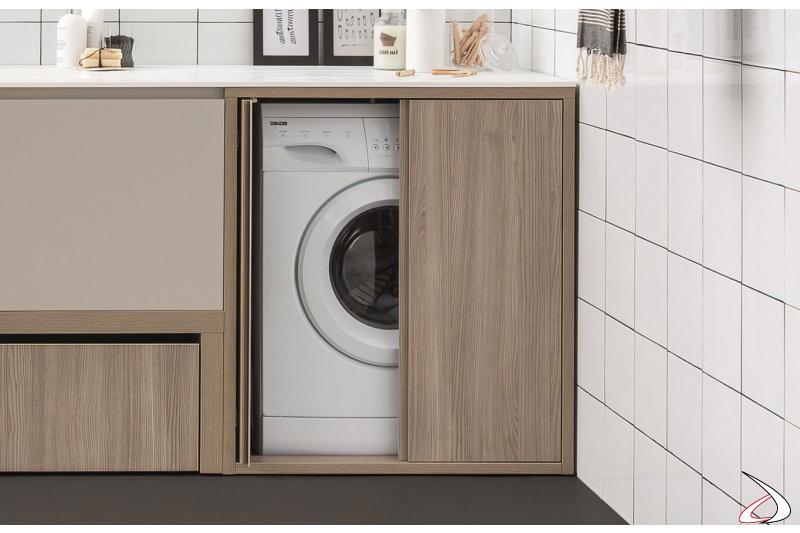 Mobile di design portalavatrice da lavanderia