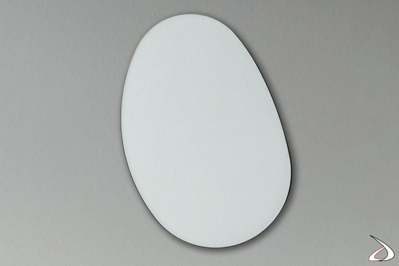 Specchio di design sagomato per arredo parete camere da letto