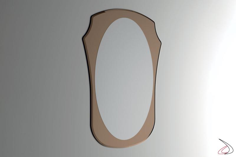 Specchio verticale da ingresso con cornice bronzata