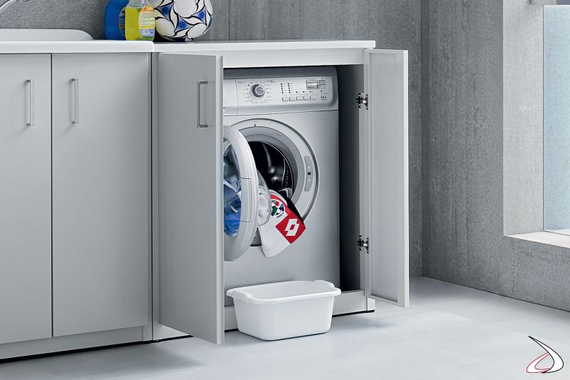 Mobile copri lavatrice a 2 ante in metallo zincato da esterno