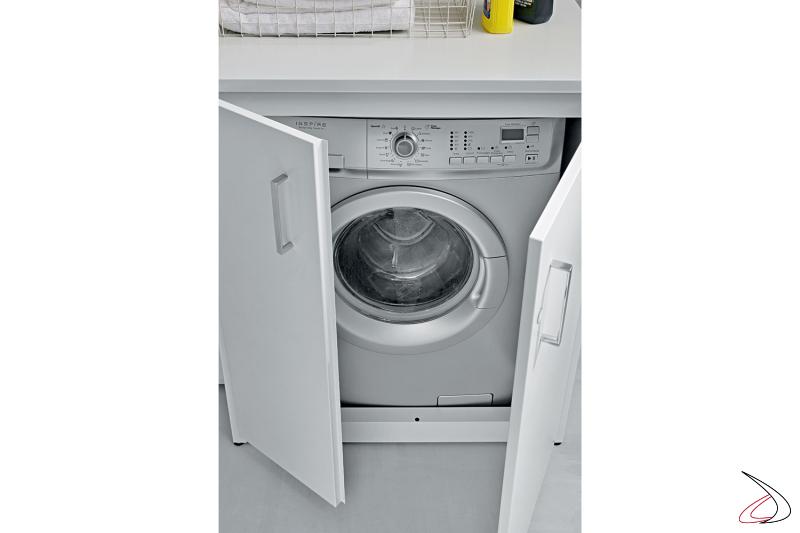 Mobile 2 ante copri lavatrice in metallo zincato da esterno o da lavanderia