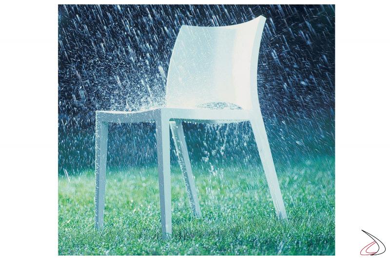 Sedia da giardino Aqua in plastica