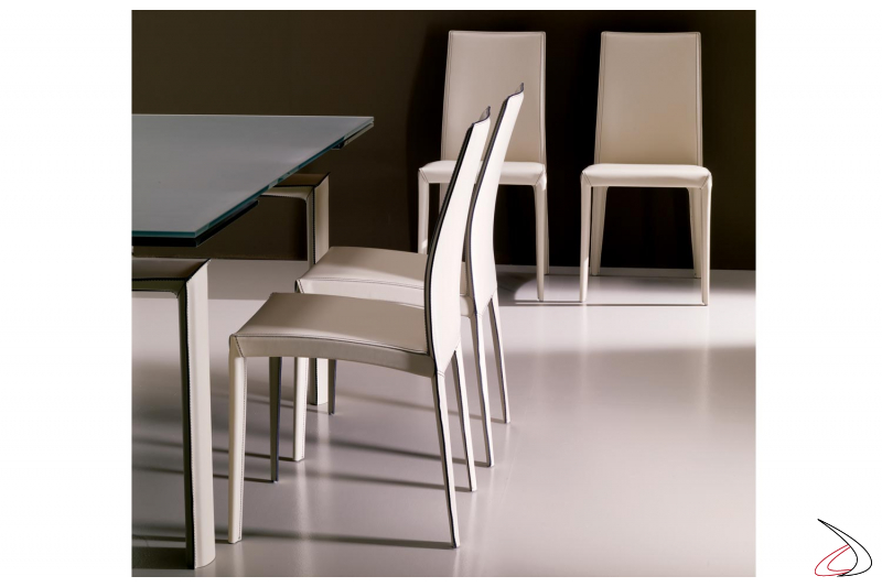 Sedie moderne in cuoio Kefir