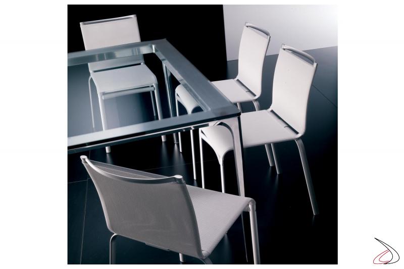 Sedia moderna da soggiorno Net impilabile