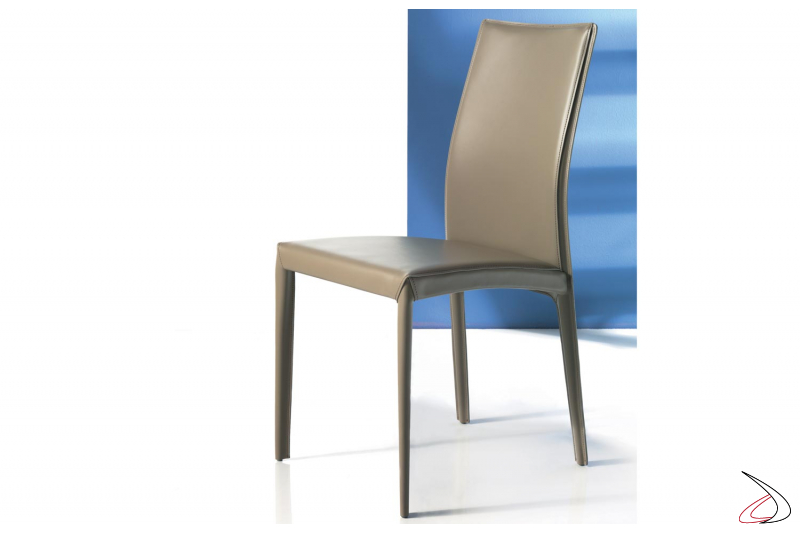 Sedia moderna in cuoio Kefir da soggiorno