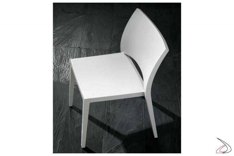 Sedia in polipropilene Aqua bianca