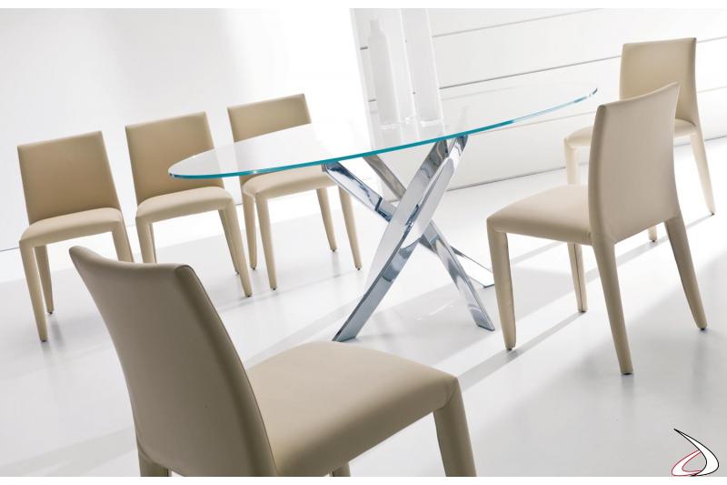 Sedie design imbottite per tavolo soggiorno