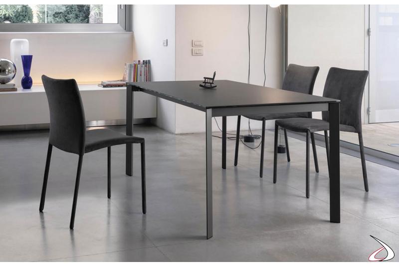 Sedie modello Simba con tavolo modello Dublino