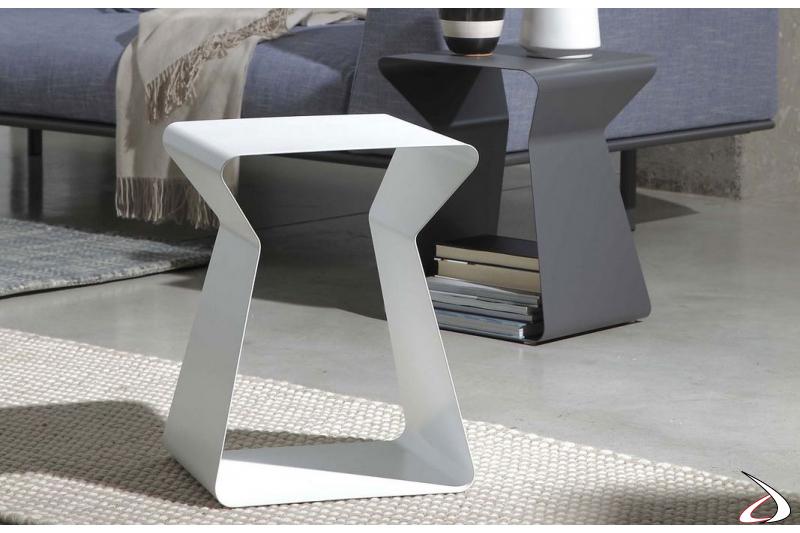 Tavolino design da soggiorno a forma di clessidra