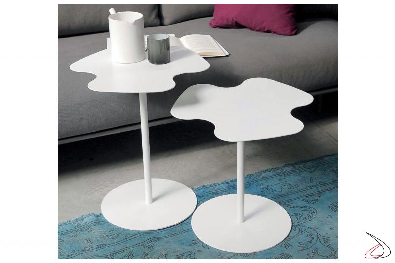 Tavolino moderno da lato divano porta tazzine