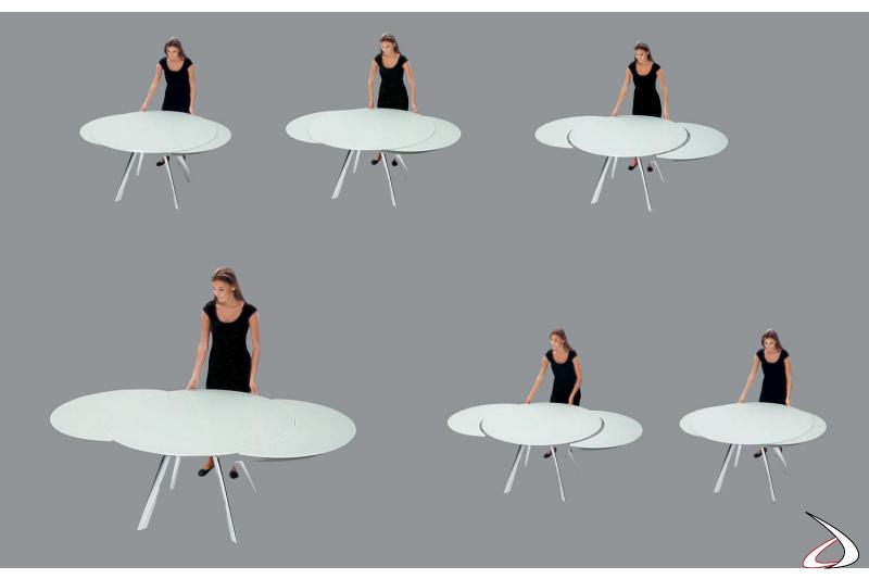 Tavolo allungabile rotondo di design
