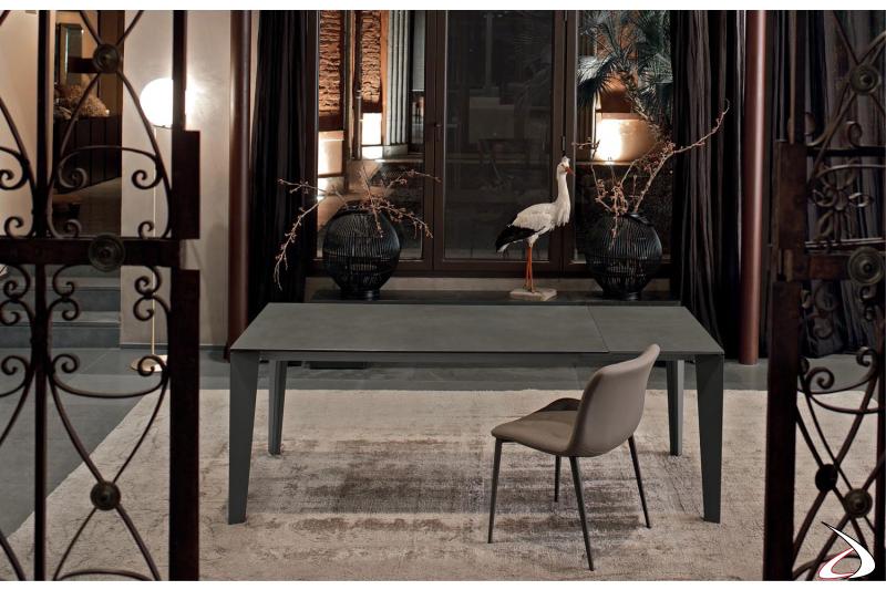 Tavolo da cucina allungabile moderno con piano in fenix