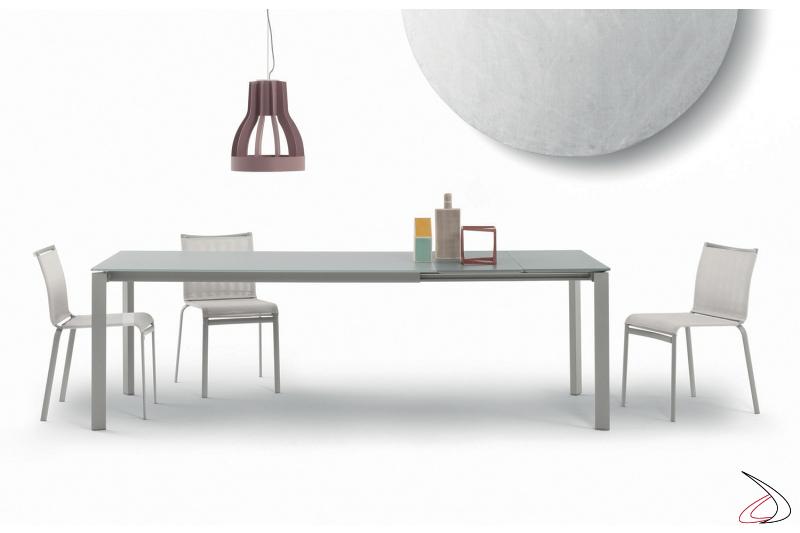 Tavolo in vetro antigraffio velvet allungabile da soggiorno