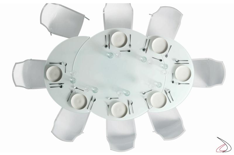 Tavolo design rotondo allungabile da soggirono