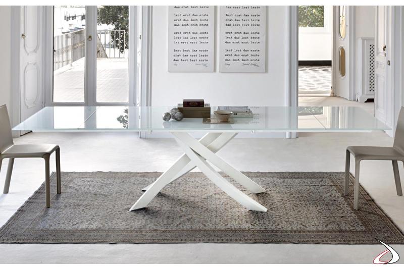 Tavolo design in vetro allungabile