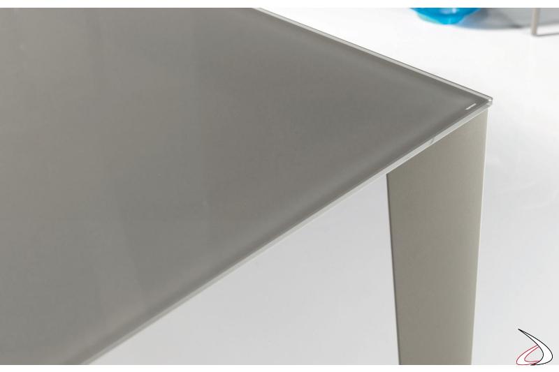 Piano in vetro per tavolo allungabile