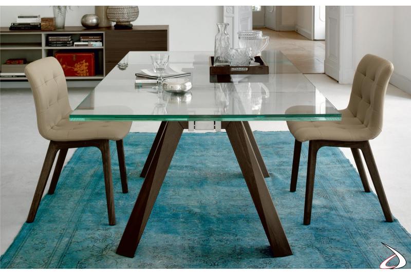 Tavolo da soggiorno allungabile