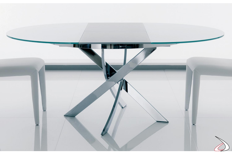 Round extendable table for the living room