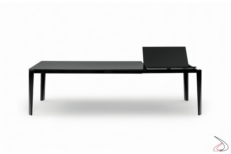 Tavolo di design allungabile con prolunga ad apertura a libro