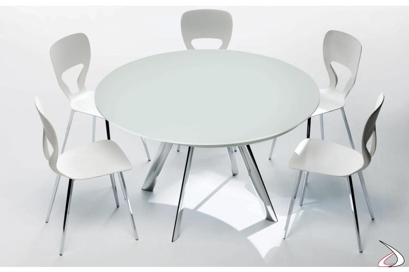 Tavolo moderno rotondo da cucina