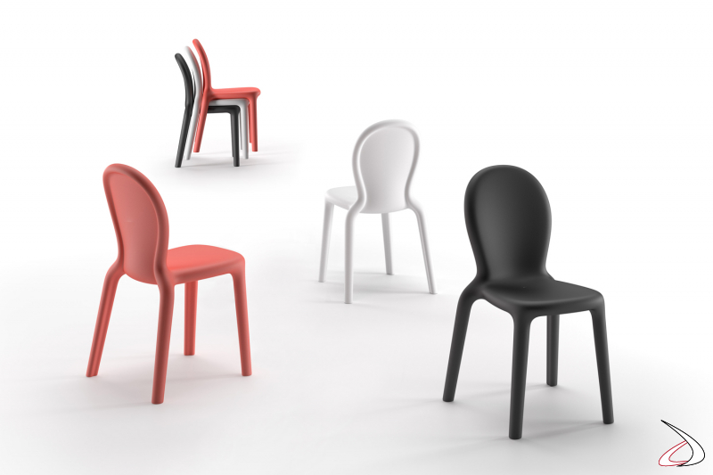 Sedia dal design moderno e seduta confortevole.