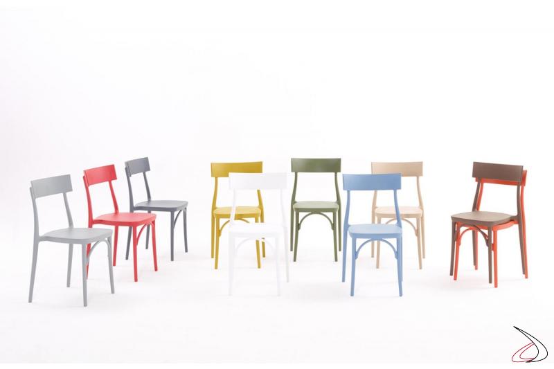 Sedie Milano2015 di Colico in polipropilene colorato impilabili