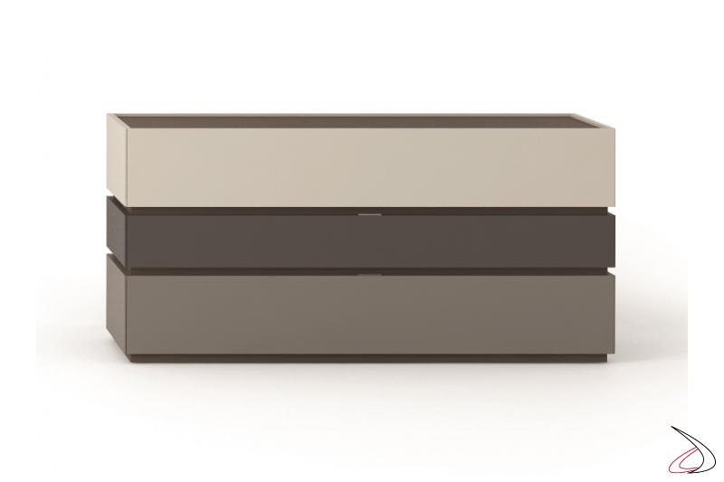 Comò moderno componibile a 3 cassetti