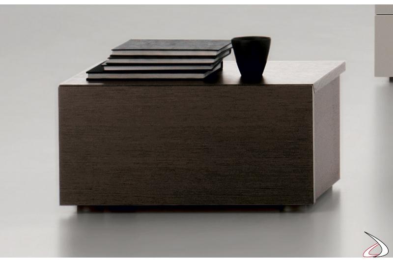Comodino moderno in legno 1 cassetto