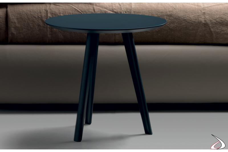 Tavolino in legno rotondo in legno laccato