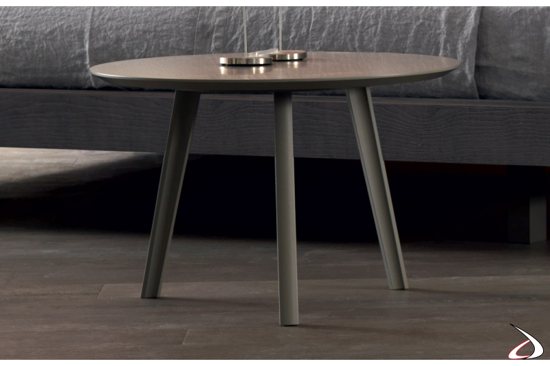 Modern round table with three legs