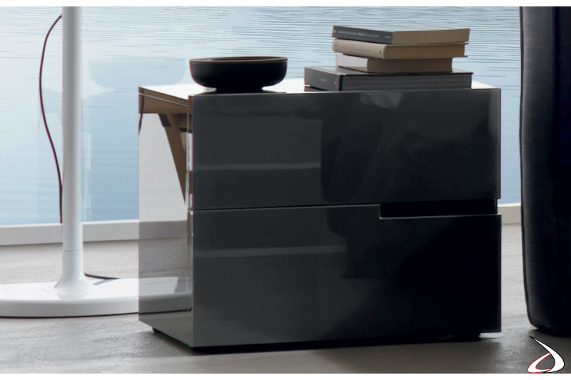 Contemporary lacquered bedside