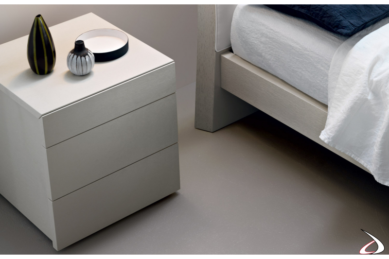 white drawer for the bedroom