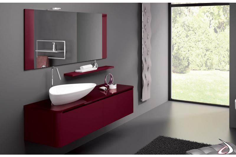 Mobile bagno moderno sospeso in laccato