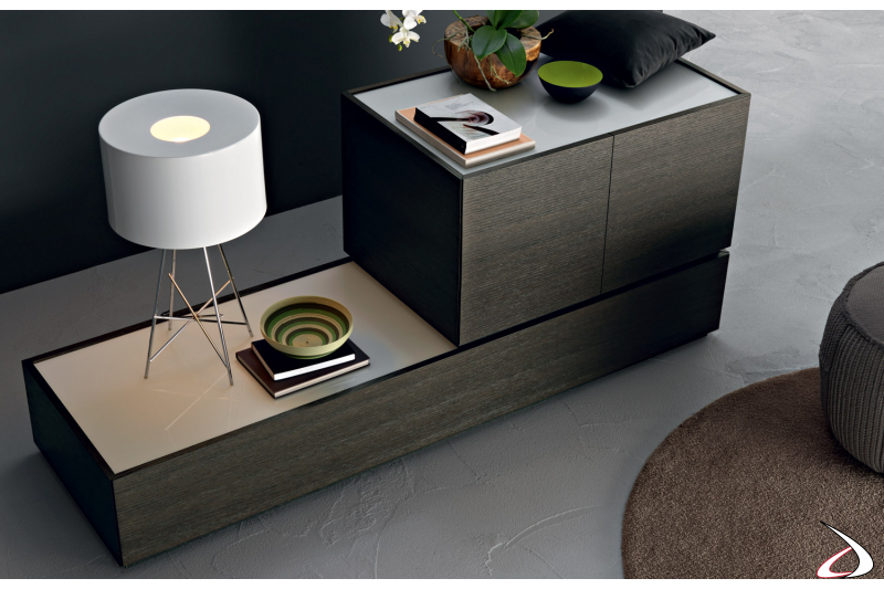 Madia in legno di design da soggiorno